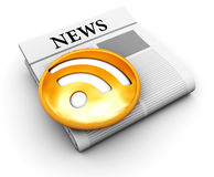Electronic newspaper Royalty Free Stock Image