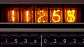 Electronic nixie counting numbers stock video