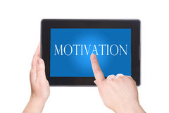 Electronic notebook PC. Motivation Stock Images
