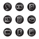 Electronic object icon set Royalty Free Stock Photo