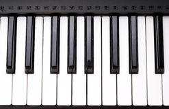 Electronic organ keyboard Stock Photography