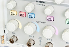 Electronic Oscilloscope panel Royalty Free Stock Photos