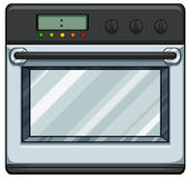 Electronic oven. Close up modern electronic oven Stock Photos