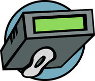 Electronic pager vector illustration Stock Image