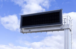 Electronic panel. Clouds Royalty Free Stock Images