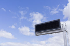 Electronic panel. Cloudy sky Stock Photography