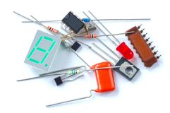 Electronic parts Royalty Free Stock Photo