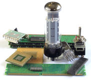 Electronic parts Royalty Free Stock Photos