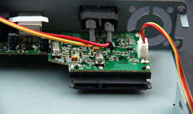 Electronic parts and circuits Stock Image