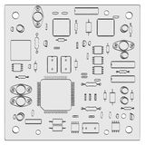 Electronic parts Stock Photography