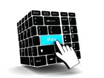 Electronic payment concept Royalty Free Stock Photo
