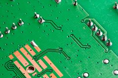 Electronic PCB Printed Circuit Board Royalty Free Stock Image
