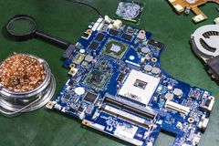 Circuit boards and electronic equipment. royalty free stock image
