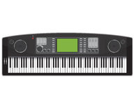 Electronic piano Royalty Free Stock Photo