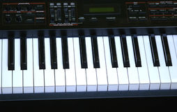 Electronic piano. Keys on an electronic piano Stock Photography