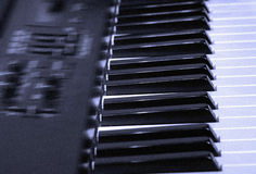 Electronic Piano. With blue tint Stock Images