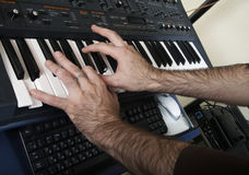 The electronic piano Royalty Free Stock Photography