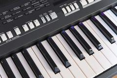 Electronic Piano Closeup Stock Image