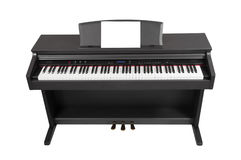 Electronic piano isolated on white background. Place for writing notes Stock Photo