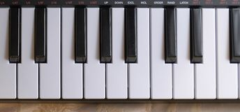 Electronic piano keyboard. Keys detail royalty free stock images