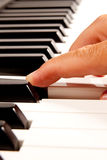 Electronic piano keyboard Stock Images