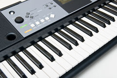 Electronic Piano Keyboard Stock Photo