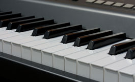 Electronic piano keyboard Stock Image