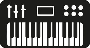 Electronic piano keyboard. Music vector Stock Photography