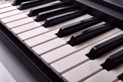 Electronic piano keyboard elevated view Royalty Free Stock Photo