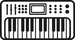 Electronic piano keyboard icon. Vector Stock Image