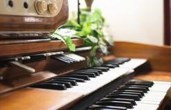 Electronic piano keyboards close up Stock Image