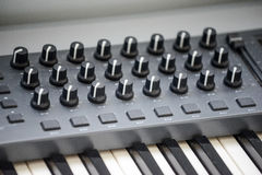Electronic piano with many buttons Royalty Free Stock Image