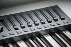 Electronic piano with many buttons Stock Image