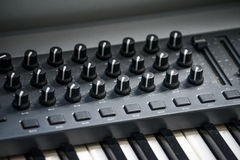 Electronic piano with many buttons Royalty Free Stock Images