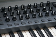 Electronic piano with many buttons Stock Photography