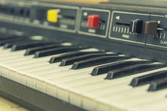 Electronic piano retro