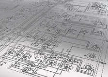 Electronic plan Royalty Free Stock Image