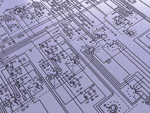 Electronic plan background Royalty Free Stock Images