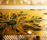 Electronic plate, motherboard Royalty Free Stock Image