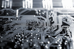 Electronic plate, motherboard Stock Photos