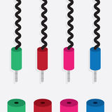 Electronic Plug Colors Stock Photos