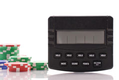 Electronic Poker Game Stock Photo