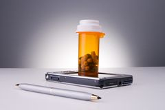 Electronic prescriptions. Future generations of electronic prescription stock photo