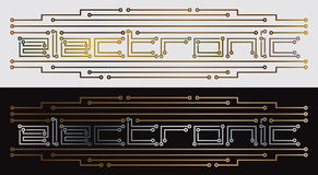 Electronic printed circuit. Drawing Stock Photography