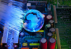 Electronic printed circuit board Stock Images