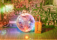 Electronic printed circuit board Stock Photography