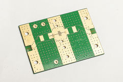 Electronic printed circuit board bottom layer Stock Photography