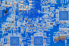 Electronic printed circuit board Royalty Free Stock Images