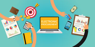 Electronic procurement concept stock illustration