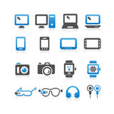 Electronic product icon set. All kinds of Computer , smart phone, digital tablet, wearable devices icon set - Simplicity Series Stock Photos